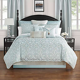 Waterford® Arezzo Reversible King Comforter Set in Blue