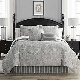 Waterford® Catalina 4-Piece Reversible Queen Comforter Set in Grey