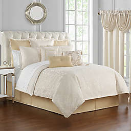 Waterford® Valetta 4-Piece Reversible King Comforter Set in Ivory