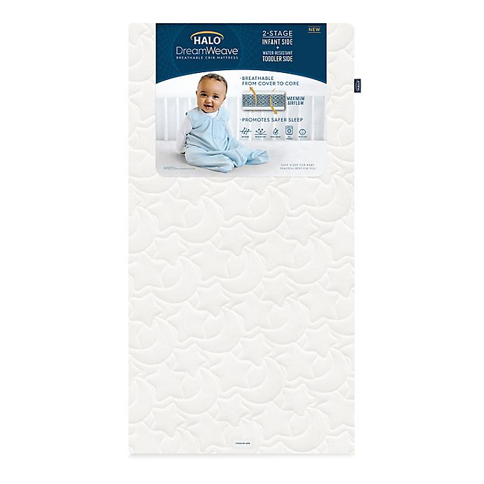 Alternate image 1 for HALO® DreamWeave™ Breathable Crib Mattress in White