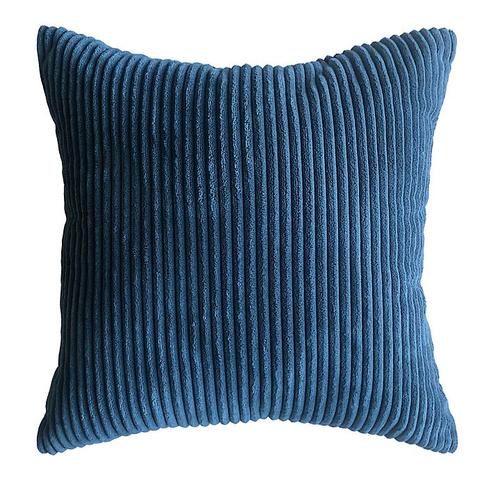 Alternate image 1 for Simply Essential™ Corduroy Reversible Square Throw Pillow in Navy
