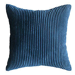 Simply Essential™ Corduroy Reversible Square Throw Pillow in Navy