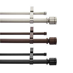 Simply Essential™ Deco 18 to 36-Inch Adjustable Double Curtain Rod Set