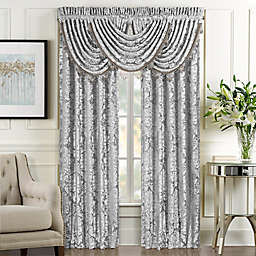 J. Queen New York BelAir 2-Pack 95-Inch Rod Pocket Window Curtain Panels in Silver