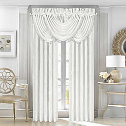 J. Queen New York Bianco 2-Pack 95-Inch Rod Pocket Window Curtain Panels in White
