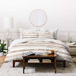 Deny Designs Stripes 3-Piece Duvet Cover Set in Brown