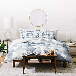 Deny Designs Ovals 3-Piece Duvet Cover Set in Blue