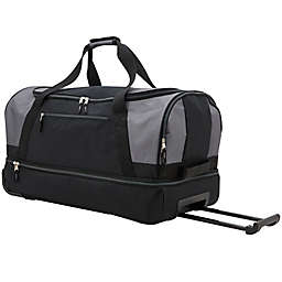 Traveler's Club® 30-Inch Drop-Bottom Rolling Duffel in Grey