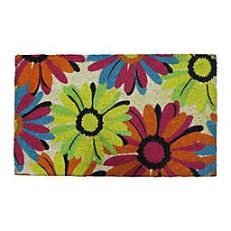 """First Concept 18"""" x 30"""" Floral Coir Door Mat"""