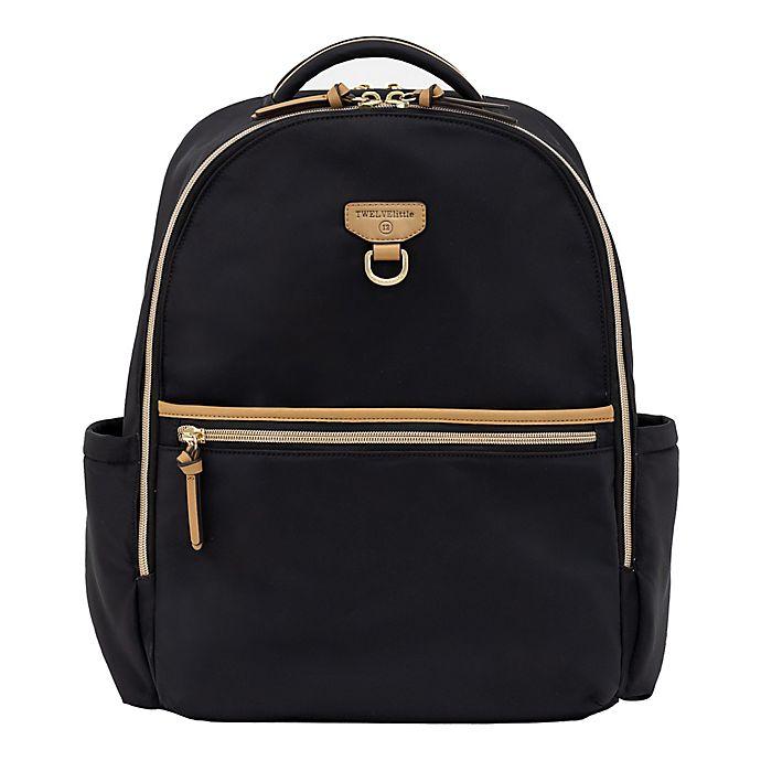 Alternate image 1 for TWELVElittle On-the-Go Backpack Diaper Bag in Black/Tan