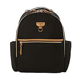 TWELVElittle Midi-Go Diaper Backpack in Black/Tan