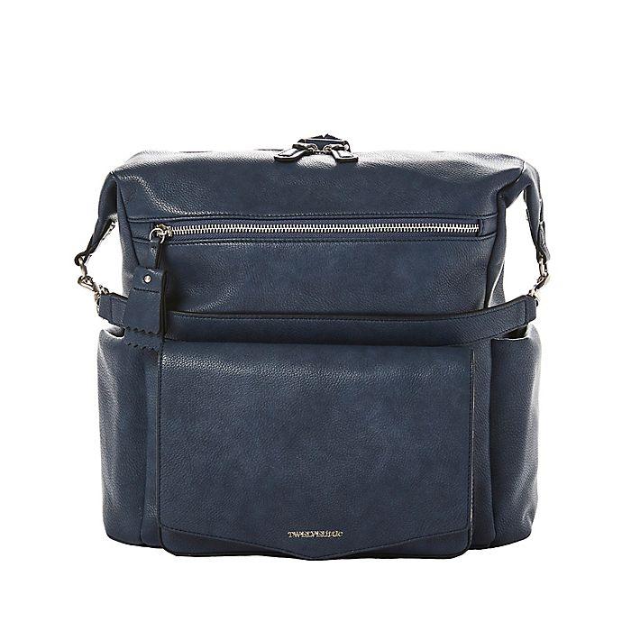 Alternate image 1 for TWELVElittle Peek-A-Boo Hobo Diaper Backpack in Navy