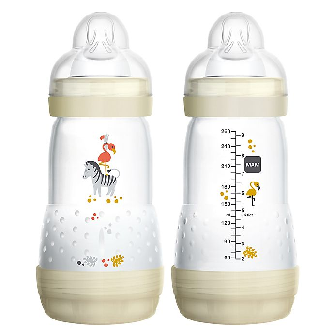 Alternate image 1 for MAM 2-Pack 9 oz. Anti-Colic Bottle in White