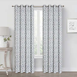 Quinn Medallion Blackout Grommet Window Curtain Panel