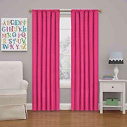 Eclipse Kendall 84-Inch Rod Pocket Room Darkening Window Curtain Panel in Raspberry