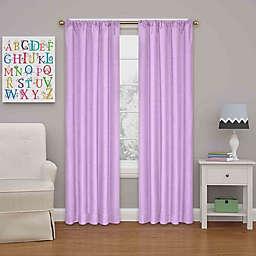 Eclipse Kendall  84-Inch Rod Pocket Room Darkening Window Curtain Panel in Light Purple (Single)