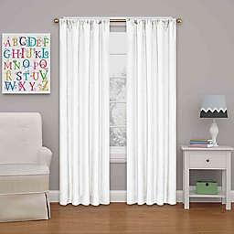 Eclipse Kate 54-Inch Rod Pocket Room Darkening Window Curtain Panel in White