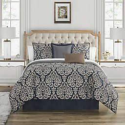 Waterford® Bastia 4-Piece King Comforter Set in Navy