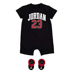 Jordan® 2-Piece 23 Romper and Bootie Set in Black/Red