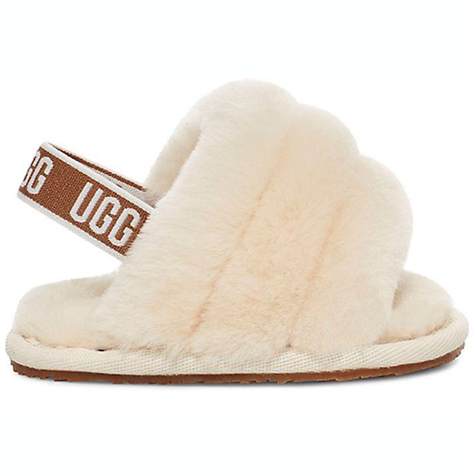 Alternate image 1 for UGG® Fluff Yeah Slide Strap Sandal in Natural