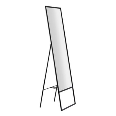 Adesso Alfred Standing Floor Mirror, White Floor Mirror With Easel
