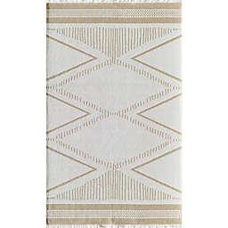 Rugs America Sloane Gilded Tropics 8' x 10' Area Rug in Ivory/Gold