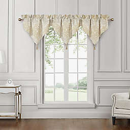 Waterford® Wynne Ascot Window Valances in Gold (Set of 3)
