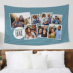 Favorite Memories 60-Inch x 35-Inch Personalized Photo Printed Wall Tapestry
