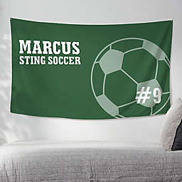 Soccer 60-Inch x 35-Inch Personalized Wall Tapestry