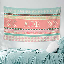 Bohemian Chic 60-Inch x 35-Inch Personalized Printed Wall Tapestry
