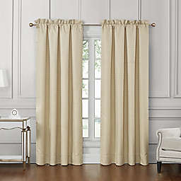 Waterford® Wynne 2-Pack 84-Inch Rod Pocket Light Filtering Window Curtain Panels in Gold