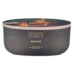 Heirloom Home™ Bonfire 18 oz. Oval Dish Candle with Wood Lid