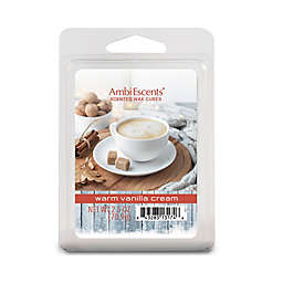 AmbiEscents™ Warm Vanilla Cream 6-Pack Scented Wax Cubes in White