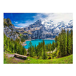 Wuundentoy USA Turquoise Oeschinensee 500-Piece Jigsaw Puzzle