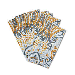 Paisley 32-Count Paper Guest Towels in Yellow