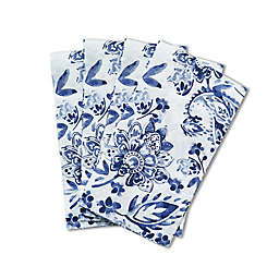Paisley 32-Count Paper Guest Towels in Blue