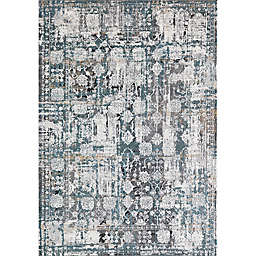 Rugs America Bentley Paradise 5' x 7' Area Rug in Blue/White
