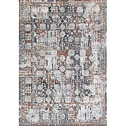 Rugs America Bentley Autumn Leaves 5' x 7' Area Rug in White