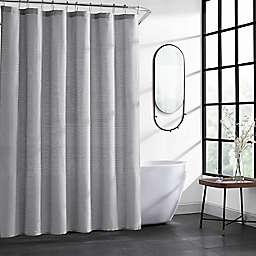 Kenneth Cole New York® 70-Inch x 72-Inch Herringbone Shower Curtain in Dark Grey