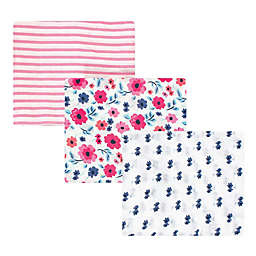 Touched by Nature 3-Pack Muslin Swaddle Blankets in Pink Floral