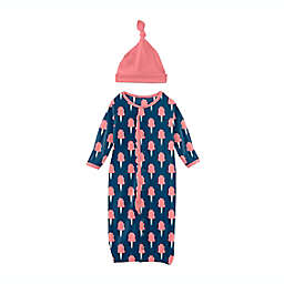 KicKee Pants® Navy Cotton Candy 2-Piece Layette Gown Converter