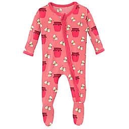 KicKee Pants® Bees & Jam Footie in Strawberry