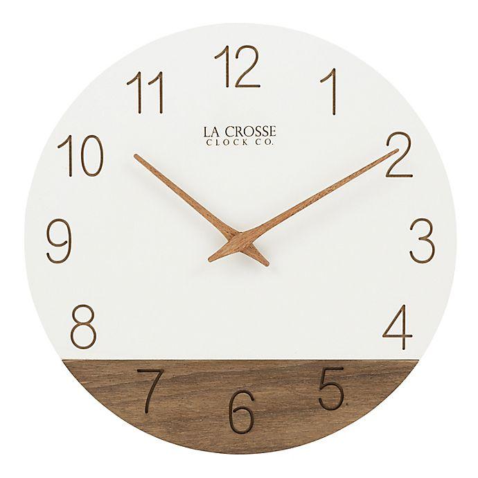 Alternate image 1 for La Crosse Clock Company Sierra 12-Inch Wall Clock in White/Wood