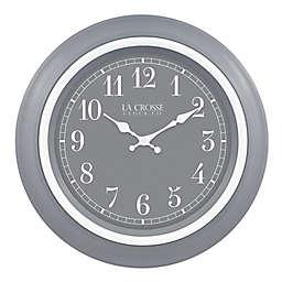 La Crosse Clock Company Louisa 18-Inch Wall Clock in Slate Grey