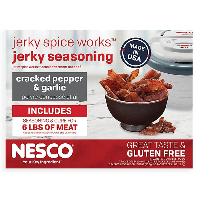 Alternate image 1 for Nesco® 6-Pack Cracked Pepper and Garlic Jerky Seasoning