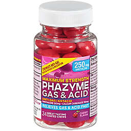 Phazyme® 24-Count Cherry Flavor 250 mg Maximum Strength Anti-Gas/Antacid Coated Chews