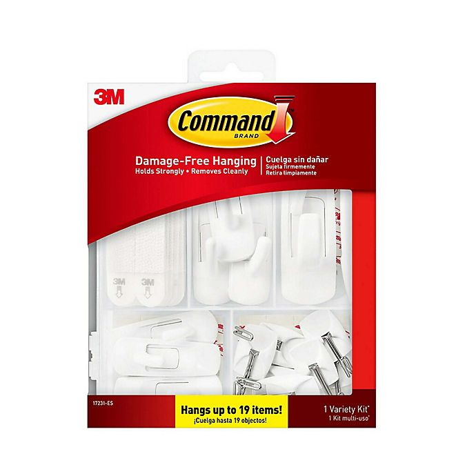 Alternate image 1 for 3M Command Variety Hanging Kit in White (Pack of 19)