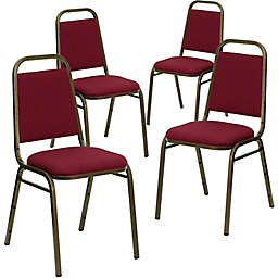 Flash Furniture HERCULES Vinyl Upholstered Banquet Chairs (Set of 4)