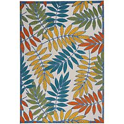 Nourison Aloha Leaf Design Indoor/Outdoor Rug
