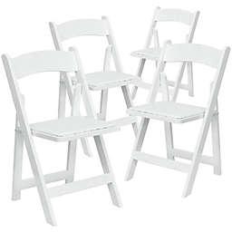 Flash Furniture Wood Folding Chairs (Set of 4)